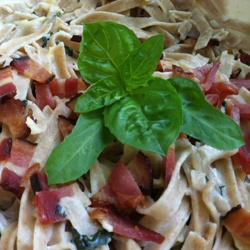 Fettucine with Bacon