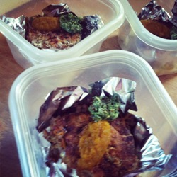 grain-carrot-cakes-with-carrot-coulis-and-carrot-green-pesto