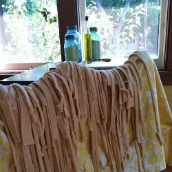 Pasta Drying on the back of a chair