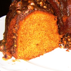 Pumpkin Bundt Cake sliced