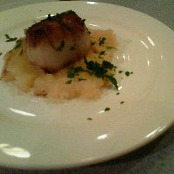 Seared Scallop on Parsnip puree